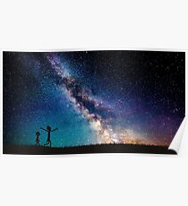 Rick and Morty Galaxy Blue Poster