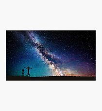 Rick and Morty Galaxy Blue Photographic Print