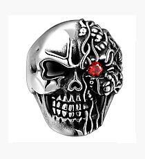 red eye skull Photographic Print