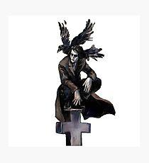 The crow under  grave Photographic Print
