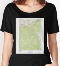 USGS TOPO Map Idaho ID Sliderock Ridge 238182 1963 24000 Women's Relaxed Fit T-Shirt