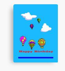 A Hot Air Balloons Happy Birthday Canvas Print