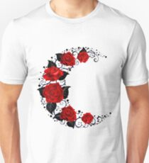 The moon of red roses T-Shirt