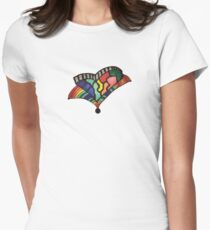 Rainbow Trumpet Heart Women's Fitted T-Shirt