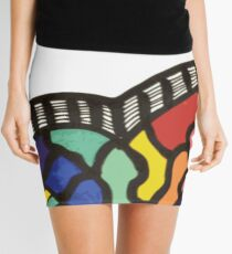 Rainbow Trumpet Heart Mini Skirt