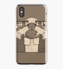 Chef with a christmas pudding 045 iPhone Case/Skin