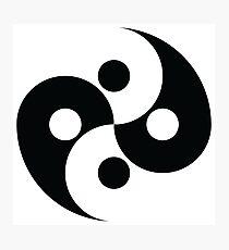 4-Way Ying Yang Pattern Photographic Print