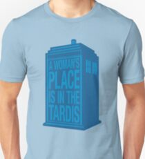 A Woman's Place is in the Tardis T-Shirt