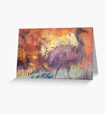 Outback Emu Greeting Card