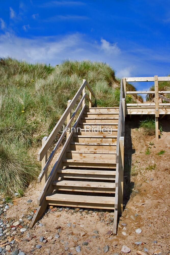 Beach Stairs by Jenn Ridley