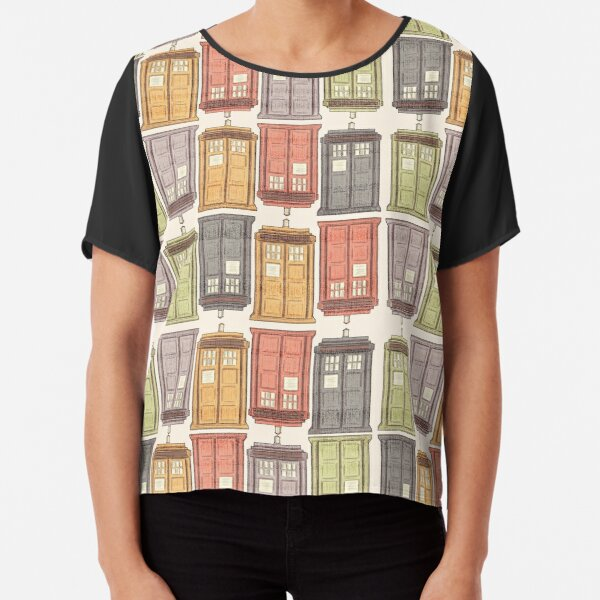 Assorted Police Boxes Chiffon Top