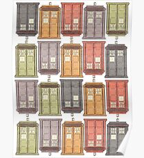 Assorted Police Boxes Poster