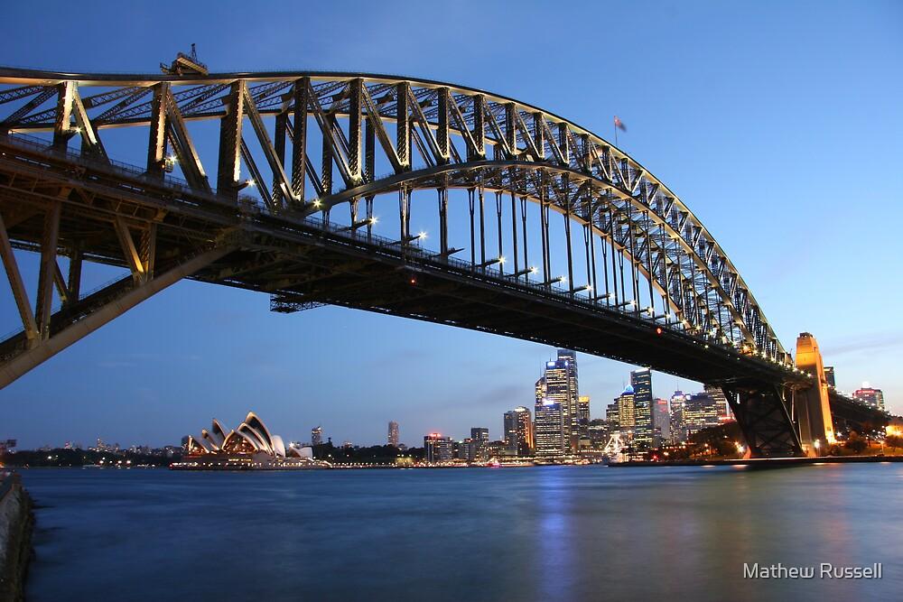 Bridge Dusk Too by Mathew Russell