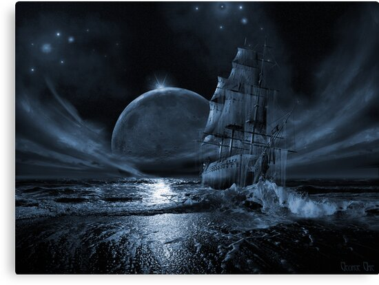 Ghost ship series: Full moon rising by George Grie