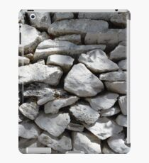 Texture of white stone wall  iPad Case/Skin