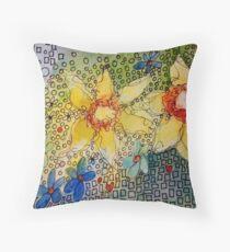 Daffodil Blues K Throw Pillow