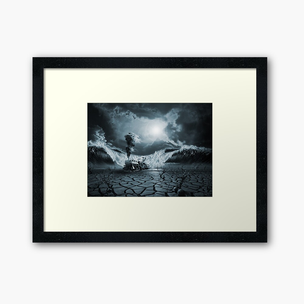 """""""Panic Attack or Anxiety PTSD"""" Framed Art Print by ..."""