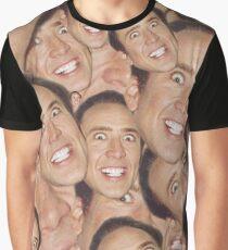 Nicolas Cage Gesicht Collage Design Grafik T-Shirt