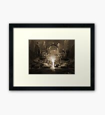 Mindscape or virtual reality dreamscape Framed Print