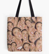 Nicolas Cage Face Collage Design Tote Bag