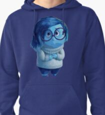 Blue emotion character illustration Pullover Hoodie