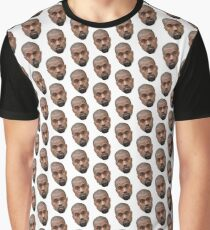 Kanye Face Pattern Graphic T-Shirt