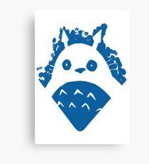Paint Totoro Blue Canvas Print