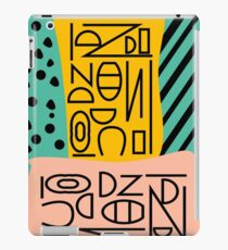 Strange alphabet iPad Case/Skin