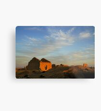 An old dilapidated building in the desert at sun set, Negev, Israel  Metal Print