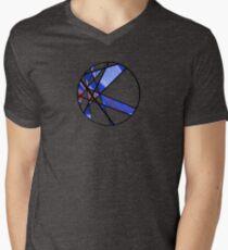 Strange Segments - 80's Panel Burst Men's V-Neck T-Shirt