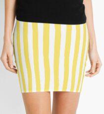 Preppy Yellow and White Cabana Stripe Mini Skirt
