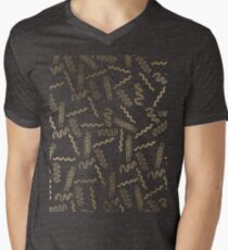 Geometrical white faux gold abstract retro 80's pattern T-Shirt