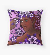 Flower Prince Throw Pillow
