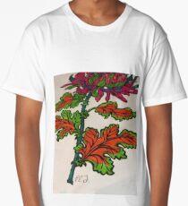 Multi Colored Flower  Long T-Shirt