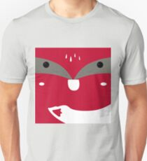 Red  fox with white T-Shirt