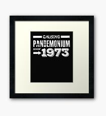 Causing Pandemonium Since 1973 - Funny Birthday Framed Print