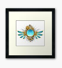 Glass mechanical wings (without shadow) Framed Print