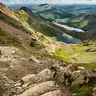 Pyg Track Glaslyn Lake by Adrian Evans