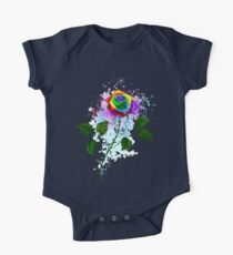 Rainbow rose with watercolor drops Kids Clothes
