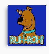 Ruh-Roh! Scooby Doo Canvas Print
