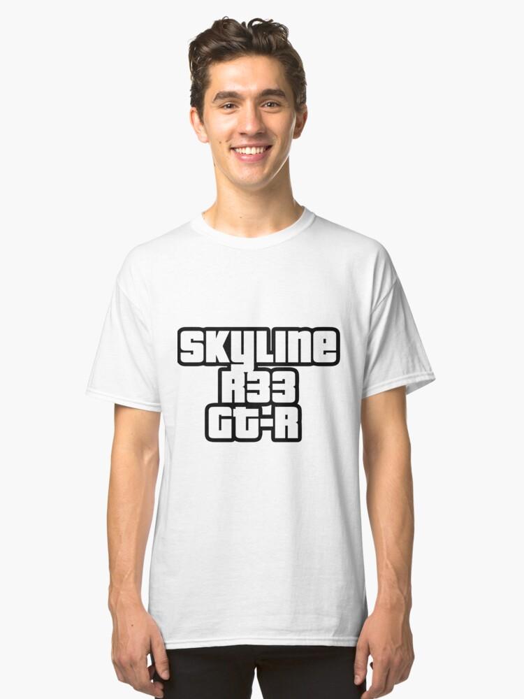 Alternative Ansicht von Skyline R33 GT-R Classic T-Shirt