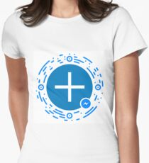 Wake Up Positive Today. Join the Happiness Movement Women's Fitted T-Shirt