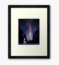 calvin and hobbes sky Framed Print