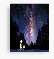 calvin and hobbes sky Canvas Print