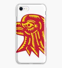 Eagle Head Side Woodcut iPhone Case/Skin