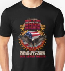 Deployed Daughter Armed Forces Tribute T-Shirt