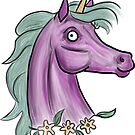 Unicorn in purple and green: Sep 2017 by Fiona Lokot