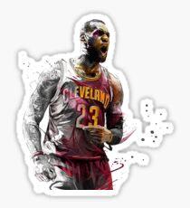 King LeBron James Sticker