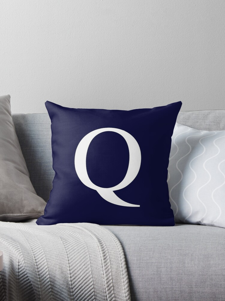Navy Blue Basic Monogram Q by rewstudio