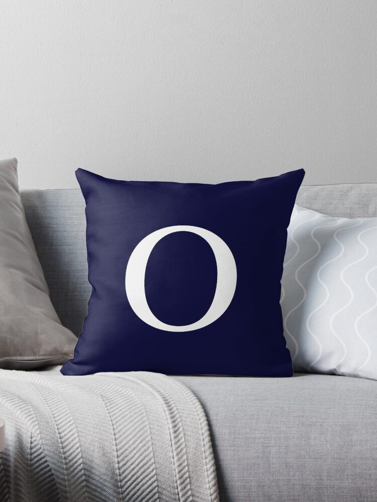 Navy Blue Basic Monogram O by rewstudio
